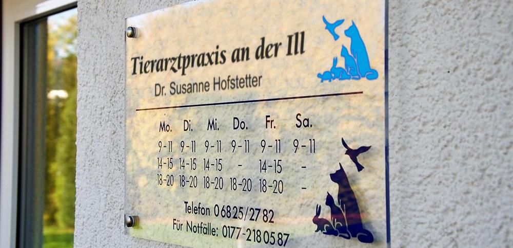 Tierarztpraxis an der ILL Dr Susanne Hofstetter Tierrzte Illingen Saarland